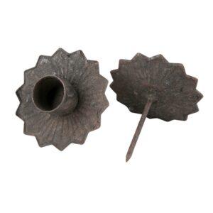 Ljushållare för kronljus i grå metall