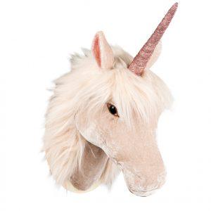 Enhörning unicorn väggdekoration i tyg