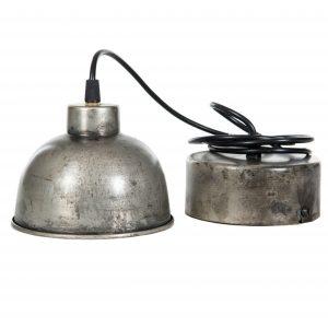 Fönsterlampa i grå industri metall