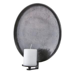 Väggljusstake ljuslampett i rund metall