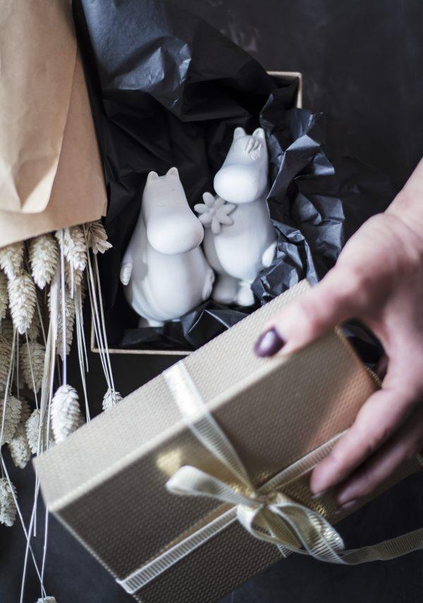 Mumintrollen oursea mix presentförpackning samlarobjekt figur från Mitt & Ditt