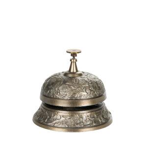 Receptionsklocka ringklocka i antik mässing