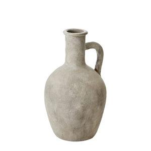 Grå urna med handtag i terracotta