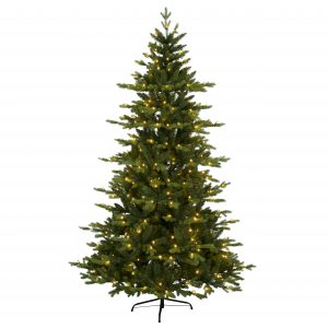 Julgran med inbyggd led belysning 180 cm