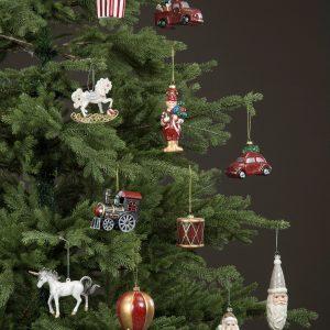 Tåg lok julgranspynt