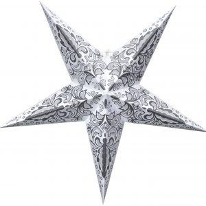 Hängande julstjärna gråvit 60 cm
