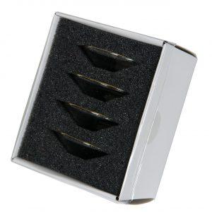 Ljusmanschett i klarglas 4-pack