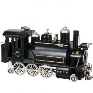 Tåg lok svart prydnad i metall