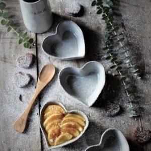 Majas Cottage hjärtformad pajform skål