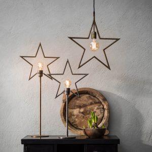 Julstjärna på fot i råsilver från PR Home