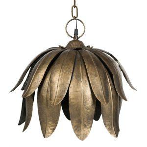 Taklampa näckros i mässing metall