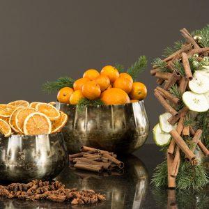 Torkade apelsinskivor i påse