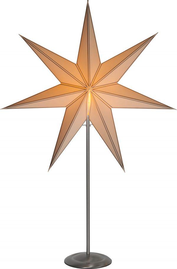 Julstjärna på fot i borstat stål