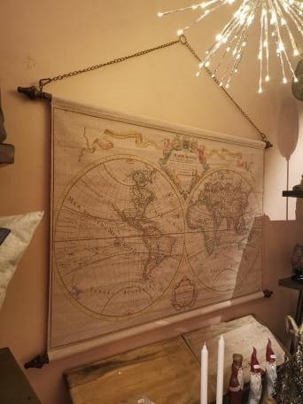 Världskarta vintage globetrotter vägg