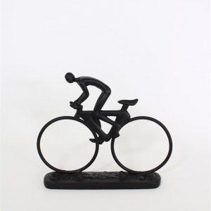 Staty figurin svart cyklist