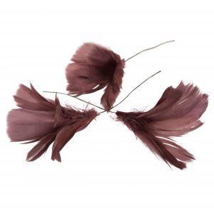Fjäderblommor mörkrosa
