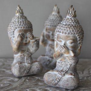 Majas Cottage Buddha Monks see hear speak no evil