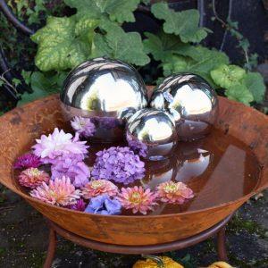 Silverklot dekorationsklot trägård metall