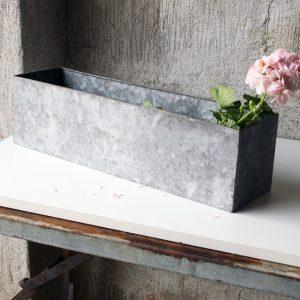 Blomlåda planteringslåda balkonglåda zink metall