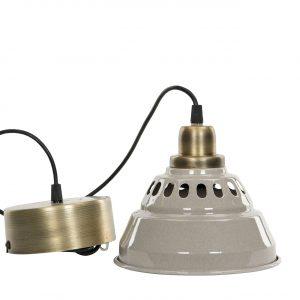 Fönsterlampa industri metall sandfärgad