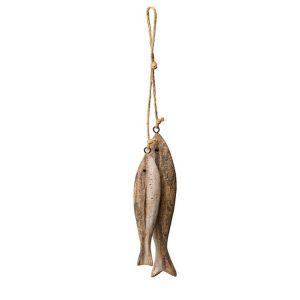 Hängande fisk sill trä dekoration