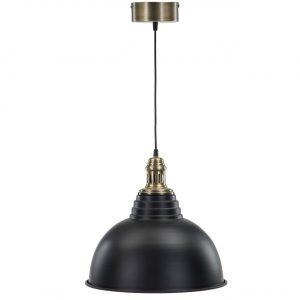 Taklampa metall industri svart