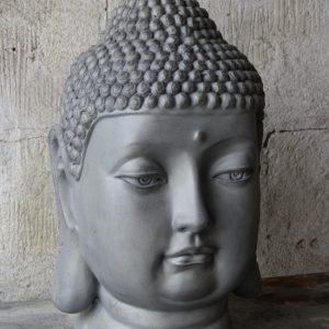 Buddhahu grå trädgårdsdekorationvud