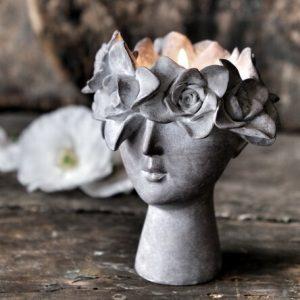 Majas Cottage ljushållare madame floral