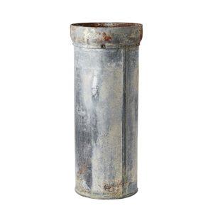 Hög kruka i vintage zink