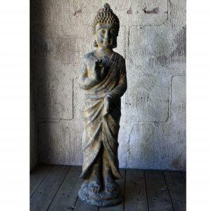 Stående buddha trädgårdsdekoration