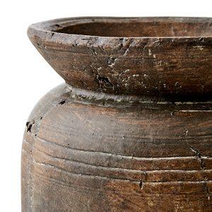 Urna kruka i brun terracotta