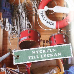 nyckelring nyckeln till lyckan grön båthus