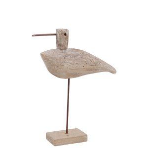 Fågel dekoration drivved trä