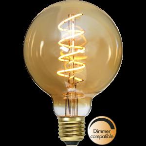 LED spiral amber glödlampa