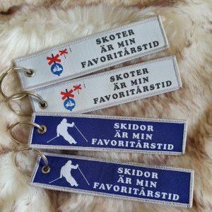 nyckelring tag skidor är min favoritårstid