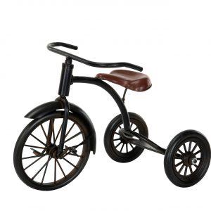 trehjuling cykel svart metall