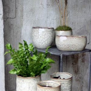 Kruka keramik beige creme