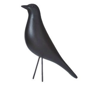 Svart fågel dekoration