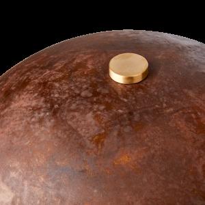 Bordslampa rost brun