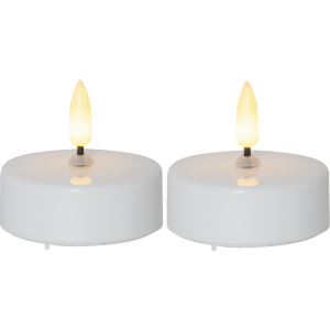 LEDljus flamme större värmeljus på 5,8 cm