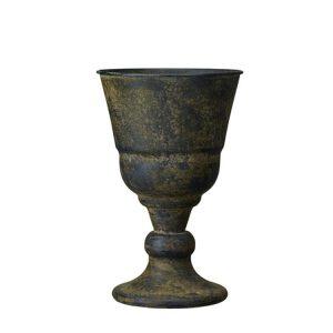 Pokal kruka i svart vintage metall