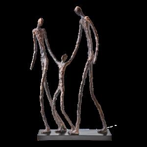 Staty brons svart vuxna barn