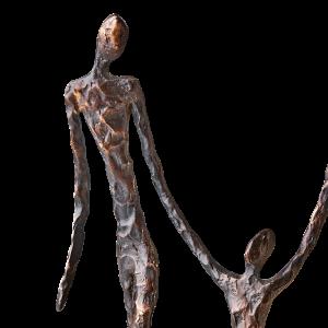 staty brons svart vuxen barn