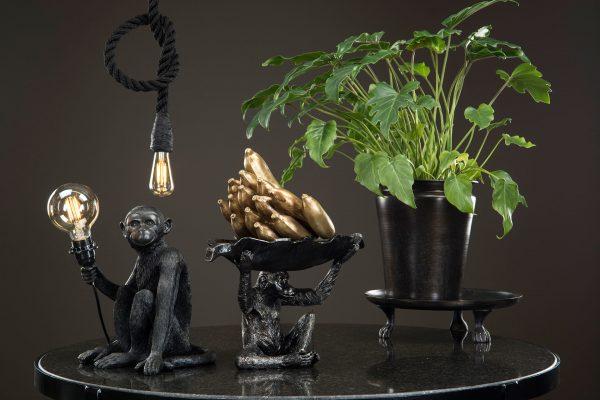 Lampfot apa svart
