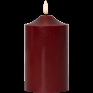 Ledljus blockljus vaxljus batteriljus flamme röd