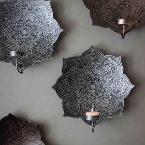 Väggljusstake mandala från majas cottage