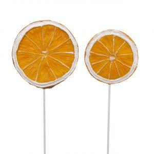 Apelsinskivor på pinne dekoration