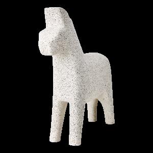 Vit häst fåle dekoration