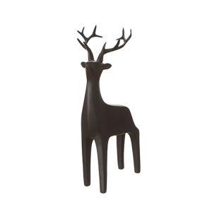Hjort matt svart dekoration