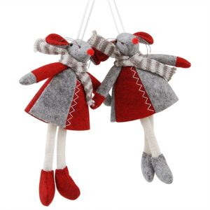 Julmus röd grå filt